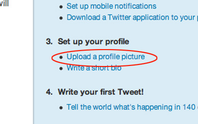 Upload Twitter Profile Picture
